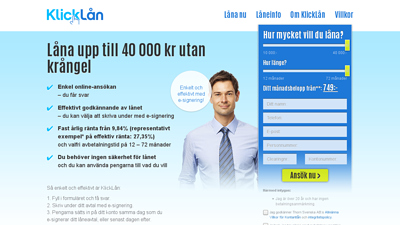 screenshot Klicklån
