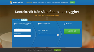 screenshot säkerfinans