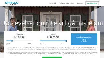 screenshot Spargo Finans